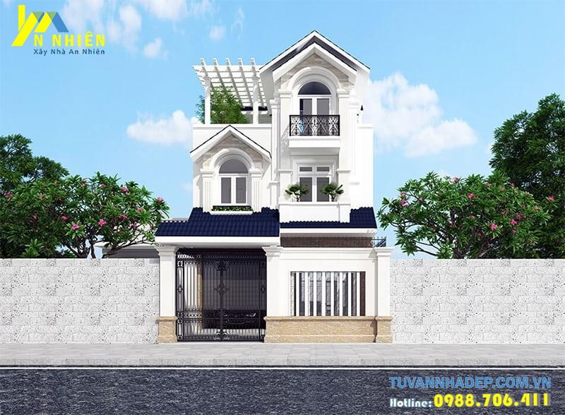 Thiết kế nhà phố 3 tầng mái thái 7x19m