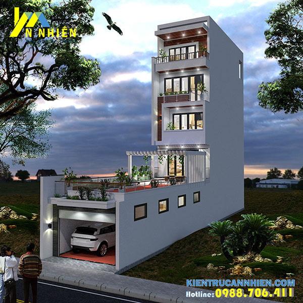 Nhà phố 5 tầng mặt tiền 5m