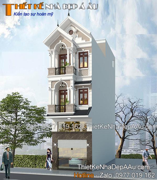 Mẫu nhà phố mặt tiền 4m