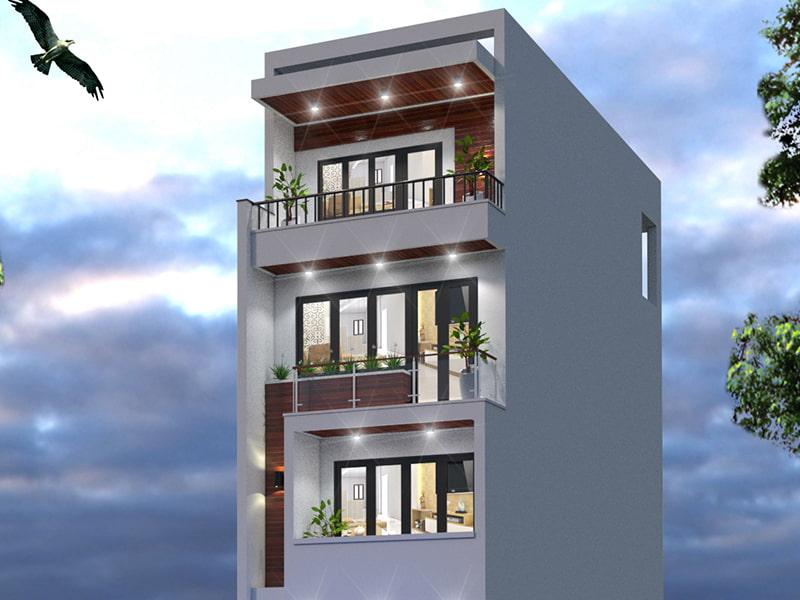 Mặt tiền nhà phố thiết kế hiện đại tối ưu