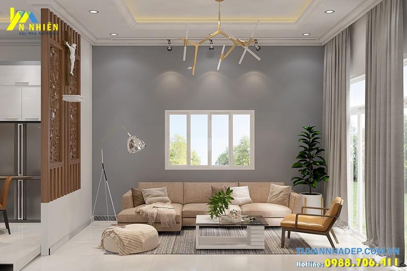 Thiết kế nội thất nhà cấp 4 3 phòng ngủ ngang 5m