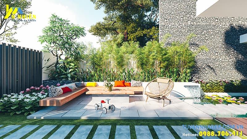 Ngôi nhà được trang trí bằng cây cảnh ở mọi không gian