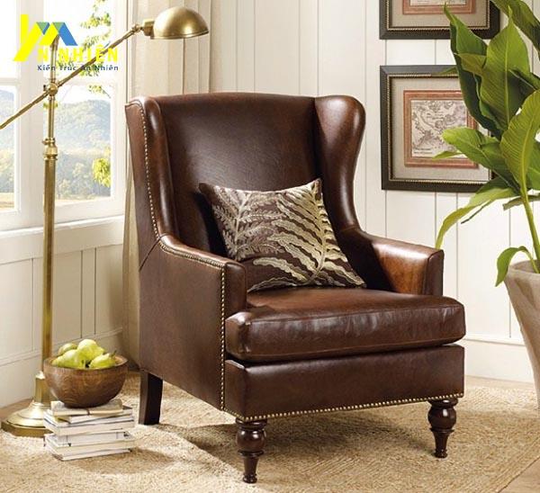 mẫu sofa da đơn sang trọng