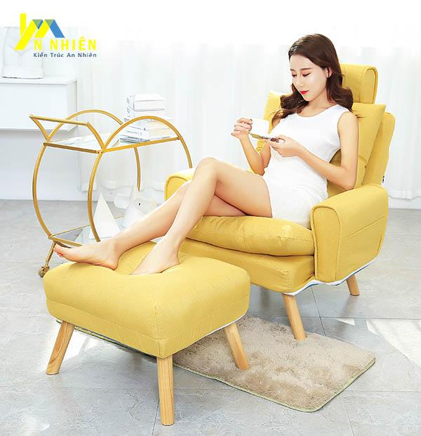 mẫu sofa nằm màu vàng đẹp