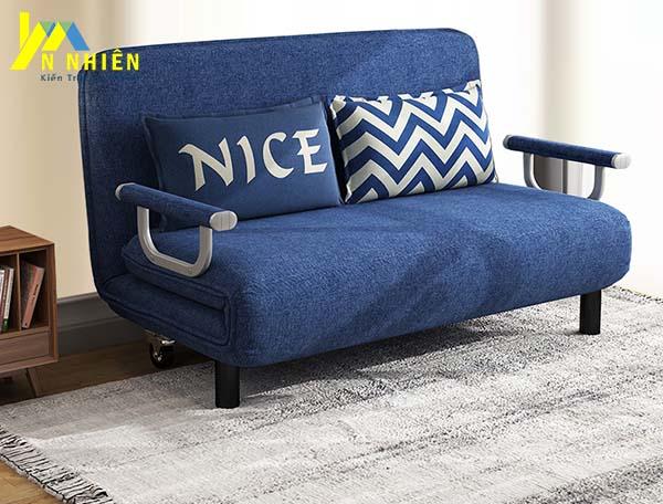 ghế sofa văng đơn màu xanh lam