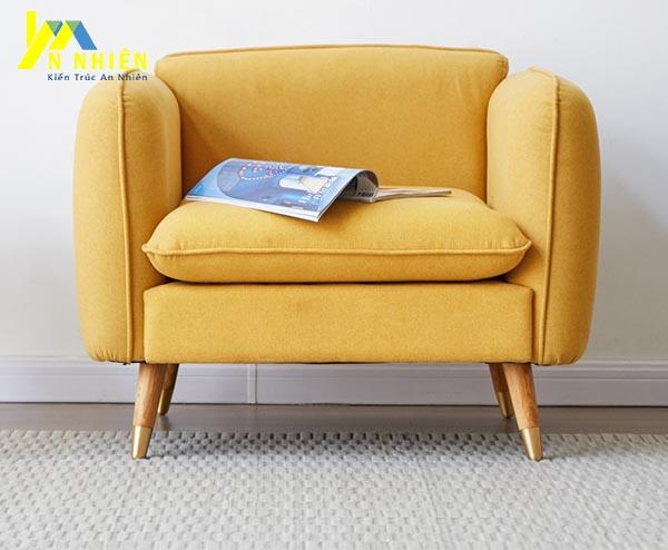 hình ảnh ghế sofa màu vàng bọc vải
