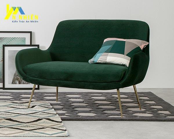 mẫu ghế sofa màu xanh lá
