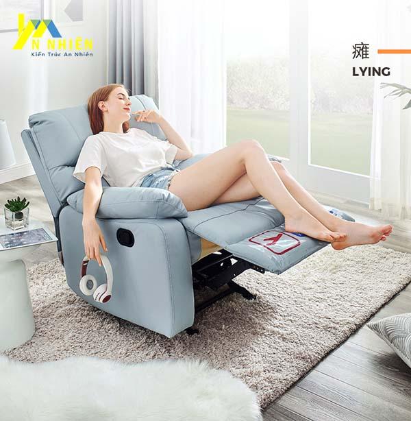 mẫu ghế sofa đơn kết hợp thư giãn