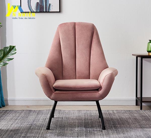mẫu sofa đơn màu hồng
