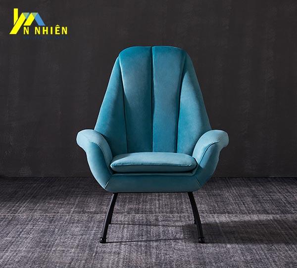mẫu ghế sofa đơn hiện đại màu xanh