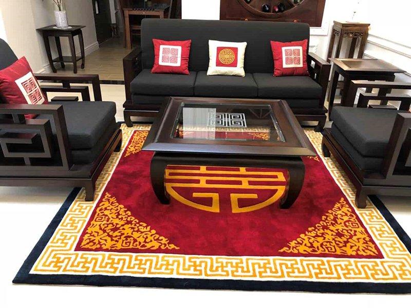 mẫu thảm trải sàn phong cách cổ điển