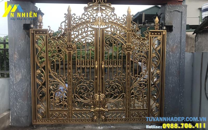 nhận thi công cổng nhôm đúc đẹp toàn quốc