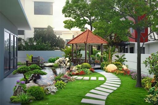 thiết kế cỏ sân vườn