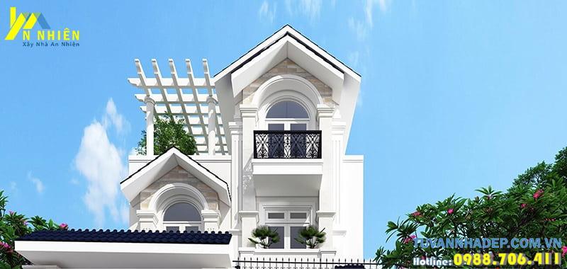 Mẫu nhà phố 3 tầng mái thái 7x19m