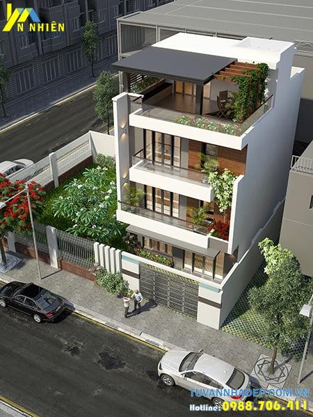 Nhà phố kiểu mái bằng