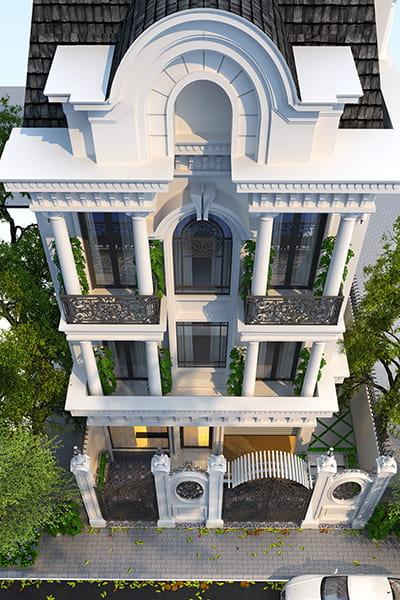 Biệt thự kiến trúc Châu Âu mái vòm