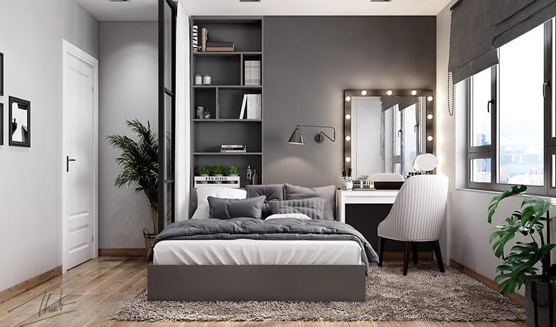 Phòng ngủ với tone màu trung tính đẹp mắt