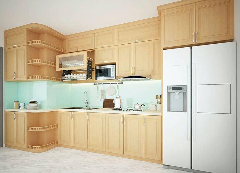Có nên làm tủ bếp bằng gỗ sồi