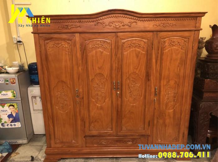 tủ gỗ bằng gỗ gõ đỏ