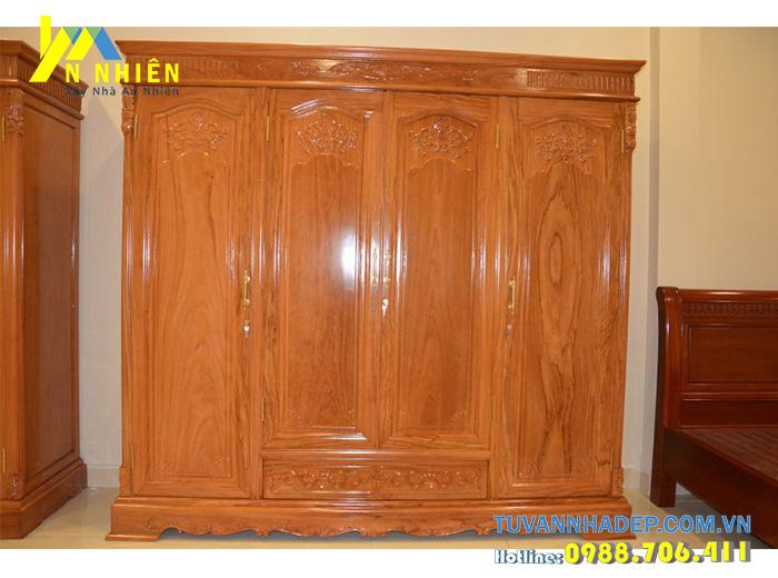 mẫu tủ đẹp bằng gỗ gõ đỏ